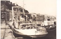 Batiment Militaire Marine Francaise Remorqueur A 786 Actif + Bateau Coque MG Signee Dewulf-pottier - Boats