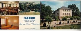 GAGES 12 - Hotel Restaurant RELAIS DE LA PLAINE ( Axe Brive Mediterranée ) CPSM 2 Volets GF RARE (0 Sur Le Site) Aveyron - Autres Communes
