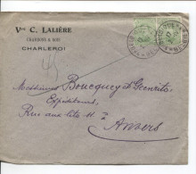 TP 137(2) S/L. Commerciale De Charleroi Oblitération Belgique-België Année Grattée V.Anvers PR1534 - Postmark Collection