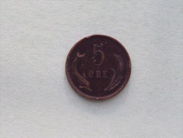 1891 CS - 5 Ore / KM 794.1 ( Uncleaned Coin - For Grade, Please See Photo ) !! - Danemark