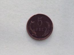 1891 CS - 5 Ore / KM 794.1 ( Uncleaned Coin - For Grade, Please See Photo ) !! - Dänemark
