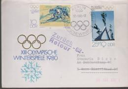 Sport 331) Olympia Lake Placid 1980: DDR Mi# 2478+2480 SSt Berlin 17.1.80: Bobstart,Spezial-Skisprung (zurück !!!) - Hiver 1980: Lake Placid