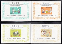 Korea South MH Scott #680a-#683a Set Of 4 Imperf Souvenir Sheets Heungbu And Nolbu - Fables - Korea, South