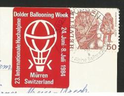 MÜRREN BE BALLOON Ballon Dolder Ballooning Week Alpine Ballonsport-Woche Mürren-Ansichten 1984 - Montgolfières