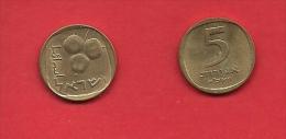 ISRAEL 1960-1975, Circulated Coin, 5 Agarot, Alu-bronza, Km25, C1715 - Israël