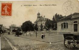 94 GENTILLY - Rue Et Place De La Mairie - Animée - Gentilly