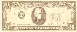 BILLETE DE ESTADOS UNIDOS DE 20 DOLLARS DEL AÑO 1985 (FALSIFICACION DE EPOCA) (BANK NOTE) - Federal Reserve Notes (1928-...)