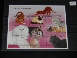 Guyana - 1997 Cats Kleinbogen MNH__(THB-333) - Guyana (1966-...)
