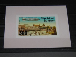 Niger - 1976 Zeppelin 300f Block MNH IMPERFORATE MNH__(TH-1017) - Niger (1960-...)