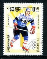 KAMPUCHEA - CAMBOGIA - Year 1984 - Sarajevo 84 -  Ice Hockey - Usato - Used. - Hockey (su Ghiaccio)