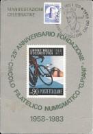 EMILIA ROMAGNA-IMOLA CIRCOLO NUMISMATICO G.PIANI 25 ANNIVERSARIO AFFRANCATURA 200 LIRE CASTELLO LUCERA  (VEDI RETRO) - Imola