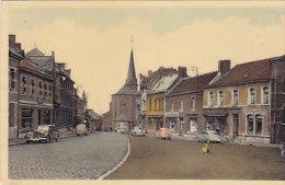 Pâturages - Grand'Place (oldtimer, Bazar, Delhaize, Colorisée) - Colfontaine