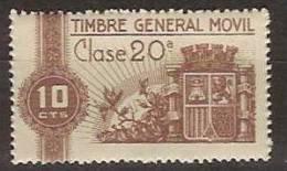 Timbre General Movil 1 ** Corona Mural - Fiscales