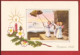 NL-02 Anges Engel Pour Sonner Les Cloches D'un Joyeux Noël. Fröhliche Weihnachten. Cachet 1945 - Anges