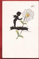 NL-04 Petit Ange Dessinant Une Marguerite. Engel. Cachet 1938 - Anges