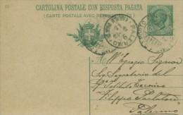 Italia 1910 - Cartolina Con Risposta Pagata. Viaggiata Da Porto Empedocle A Palermo - 1900-44 Vittorio Emanuele III