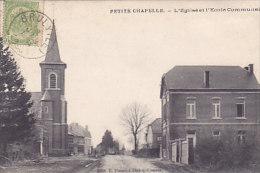 Petite-Chapelle - L'Eglise Et L'Ecole Communale (Edit E. Thomas-Dalcq...coins...) - Couvin