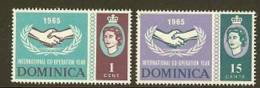 DOMINICA 1965 MNH Stamp(s) Int. Co-op. SG185-186 #5935 - Organizations