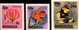 RHODESIA 1976 Def. Serie Stamps Mint 266-268 # 467 - Rhodesia (1964-1980)