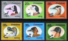 ZIMBABWE 1988, Mint Never Hinged Stamps, Ducks, Nrs. 390-395, #5104 - Zimbabwe (1980-...)