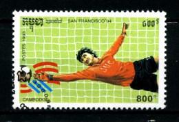 KAMPUCHEA - CAMBOGIA - Year 1993 - San Francisco 94 - Football - Usato - Used. - World Cup