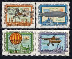 HONGRIE - N° A372/375** - AEROPHILA74 - Airmail