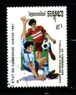 KAMPUCHEA - CAMBOGIA - Year 1991 - San Francisco 94 - Football - Usato - Used. - World Cup