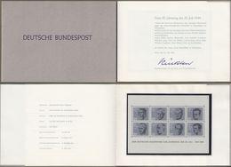 "Bund: Minister Card - Ministerkarte Typ III, Block 3, Mi-Nr. 431-38 "" Widerstandskämper - Block "", R !  X - BRD"