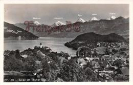 (Suisse) - Switzerland - Berne - Spez Am Thuner See - Wetterhorn - Schreckhorn - Eiger - Mönch - Jungfrau - 2 SCANS - BE Berne