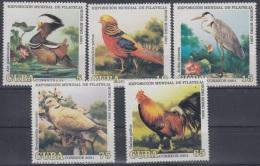 2001.34- * CUBA 2001. M NH. PHILATELIC EXPO HONG KONG. AVES. PAJAROS. BIRD. GALLO. ROOSTER. FAISAN. PALOMA. PIGEON. - Cuba