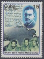 2003.32 CUBA 2003. MNH. 45 ANIV III FRENTE GUERRILLERO MARIO MUÑOZ MONROY.