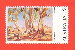 AUS SC #574 MNH  1974 Red Gums Of The Far North, H. Heysen, CV $3.75 - 1966-79 Elizabeth II