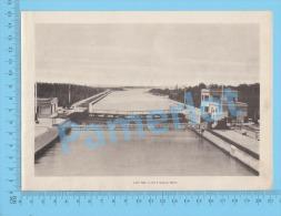 Welland Ship Canal ( Lock No 5, And 6 Looking North ) Ontario Canada Recto/Verso - Boats