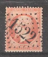 Empire N° 23 , 40 C Orange , Obl GC 1522 De FLEURANCE, Gers, SUPERBE - 1862 Napoleon III