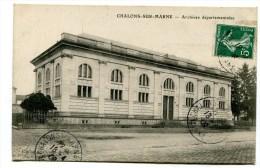 CPA  51 :  CHALONS   Archives Départementales   A  VOIR  !!!!!!! - Châlons-sur-Marne