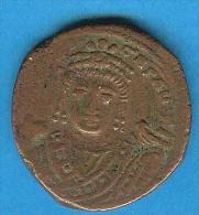 Monnaies ) Bysantines - Maurice Tibére - Follis - Theaupolis : Antioche -  Bronze - Byzantines