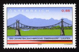 ÖSTERREICH 2003 ** 100 Jahre Salzachbrücke Oberndorf Laufen - Gemeinschaftsausgabe Mit Deutschland MNH - Gemeinschaftsausgaben