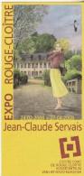 Programme SERVAIS Jean-Claude Exposition Rouge Cloitre  2008 - Unclassified