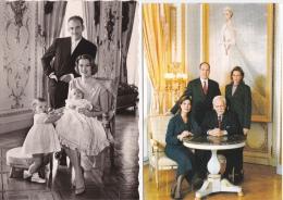 2  CPM ( GRD. MOD. ) FAMILLE  PRINCIÈRE  DE  MONACO - Familles Royales