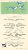 """Menu Compagnie Maritime Belge 1935 Paquebot """"Leopoldville"""" Illustré (mouettes, Poissons, Bateaux) - Menus"""