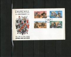 ILE DE MAN: FDC Centenaire De La Naissance De Churchill - Sir Winston Churchill