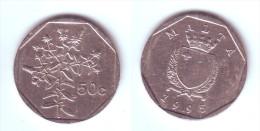 Malta 50 Cents 1995 - Malte