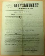 Placard Li�ge 1860 - Demande de Concession de Mines - Affichage � Li�ge, Verviers, Limbourg, Baelen et Bilstain