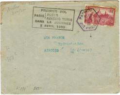 FRANCIA - France - 1935 - First Flight - Premier Vol Dans La Journée - Paris-Alger, Paris-Ajaccio-Tunis - Viaggiata P... - Aerei