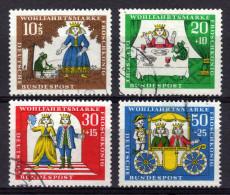 BRD 1966 - Der Froschkönig Von Brüder Grimm - MiNr.523-526 Kompletter Satz - Märchen, Sagen & Legenden