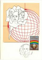 FRANCIA - France - 1975 - Carte Maximum - ANNÉE INTERNATIONALE DE LA FEMME - FDC - Cartoline Maximum
