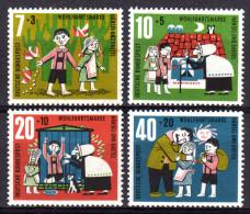 BRD 1961 ** Hänsel Und Gretel Von Brüder Grimm - MiNr.369-372 Kompletter Satz MNH - Märchen, Sagen & Legenden
