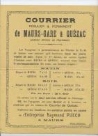 Quézac Cantal Affiche Du Courrier Officiel Du Pélérinage Raymond Puech à Maurs - Vieux Papiers