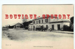 60 - LIANCOURT RANTIGNY - FACADE De La GARE - HIPPOMOBILE ATTENDANT Le TRAIN - CHEMIN De FER - BAHNHOF - RAILWAY STATION - Liancourt