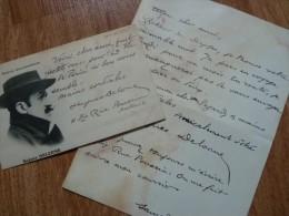 Hugues DELORME (1868-1942) Poète, Humoriste, Dramaturge Et Journaliste  - AUTOGRAPHEx 2 - Autographes